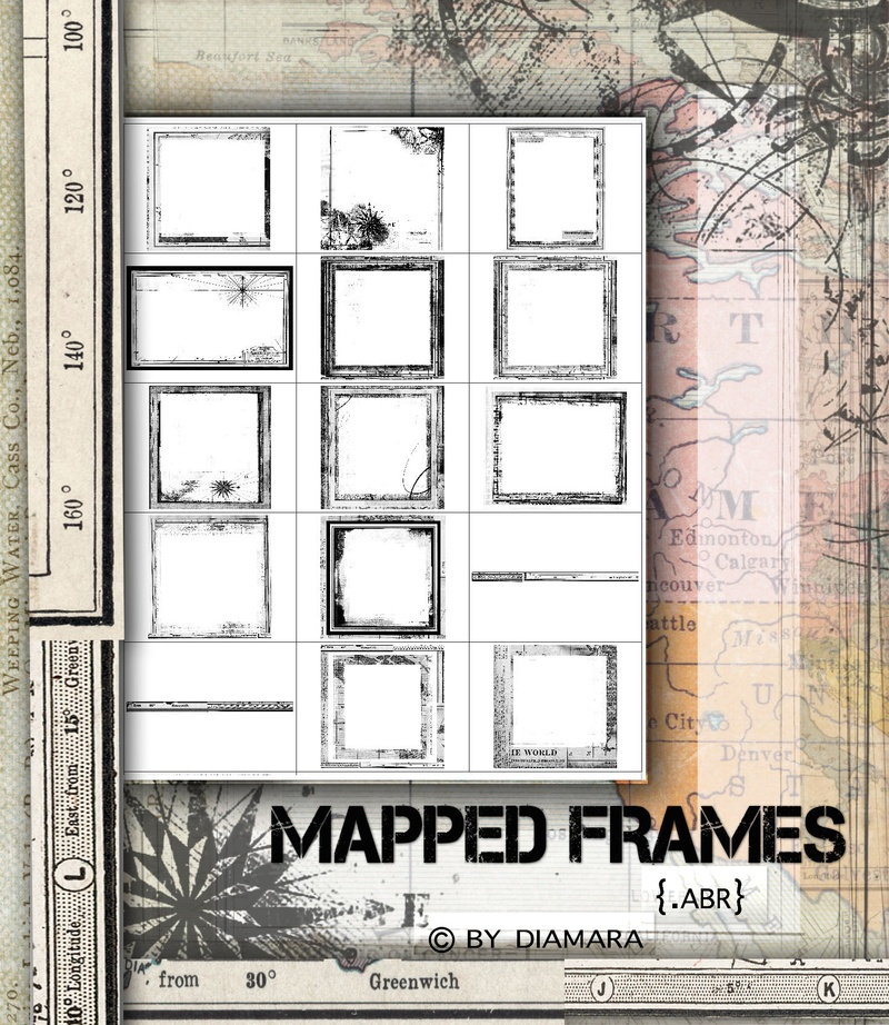 photoshop brushes borders. 15 Mapped Frames Brushes